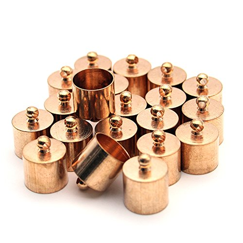 20 Pcs Decorative DIY Crafts Cylindrical Gold Polished Metal Bells