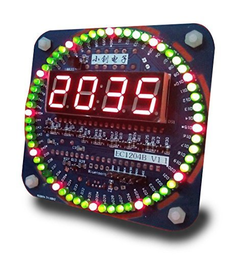 NEW Unassembled 51 MCU Rotating LED Electronic Clock Kit DIY hobby Electronic kit for Learning by EConcept (Golf Skills Challenge Ideas)