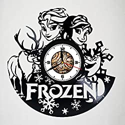 FROZEN - DISNEY - Cartoons Movie, Vinyl Wall Clock, Best Gift For Girl, Vinyl Record, Kovides, Birthday Gift, Silent, Wall Sticker, Modern Wall Art, Pictures Castle Home Décor