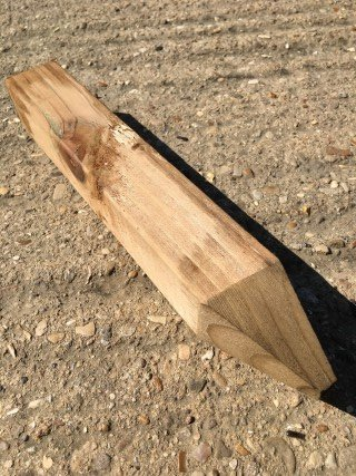 4wire 15 PACK OF STRONG 2 INCH THICK WOOD X 12Inch HIGH WOOD SQUARE SITE PEGS LANDSCAPING GARDEN 2X2 TREE STAKE
