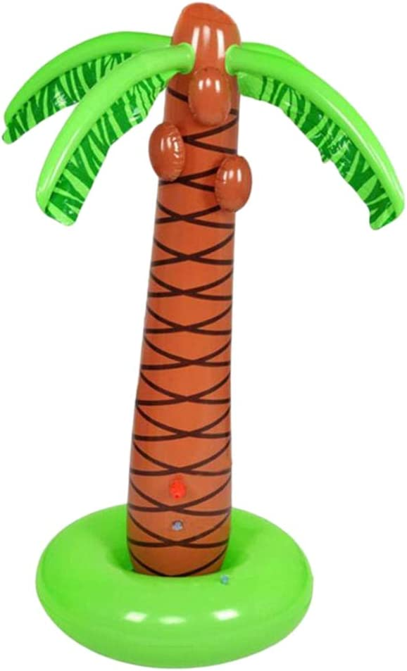 Inflatable Palm Tree Sprinkler Toy Party Supplies Decoration Outdoor Toys