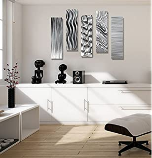 Exceptional Statements2000 Silver Metal Wall Art Decor, 5 Piece Set Of Contemporary Wall  Art By Jon