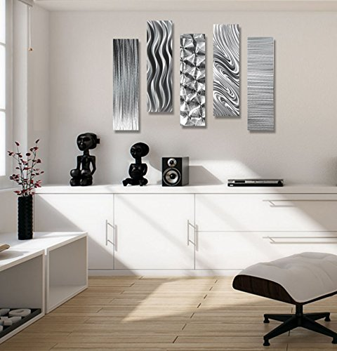 Silver Metal Wall Art Decor, of Contemporary Wall Art
