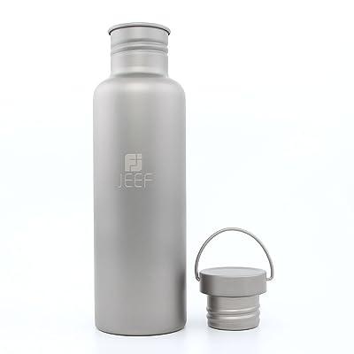 Tentock légère portable Titane pur Sports Bouteille d'eau potable Vaccum Flash pour extérieur Moutaineering 750ml