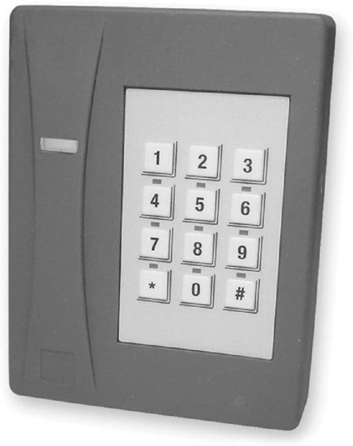 Interlogix T-525SW 430211001 12-Key Keypad Reader Gray UTC GE Security