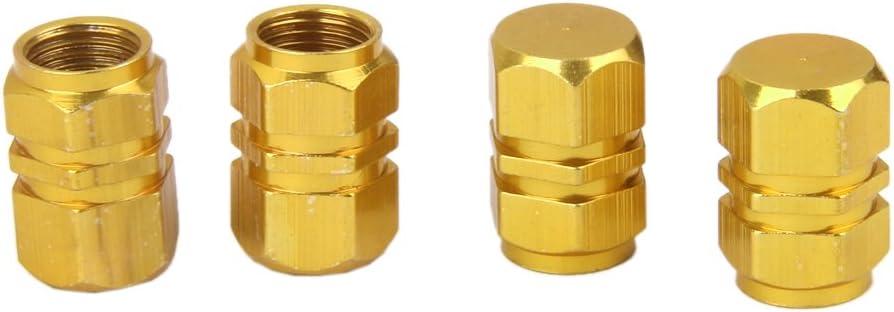 F Fityle 2 Paar Ventilkappen Für Auto Motorrad Und Fahrrad Ventildeckel Autoventilkappen Gold Auto