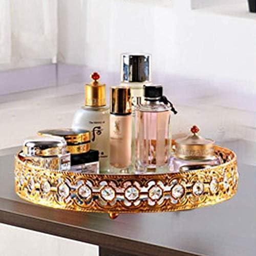 SHYPT 化粧オーガナイザー化粧品収納ボックス、調節可能な大容量化粧品ディスプレイケーススクエア化粧棚付きダイヤモンドパターン
