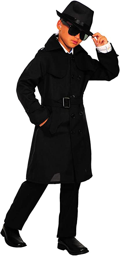 1940s Children's Clothing: Girls, Boys, Baby, Toddler Forum Novelties Childs Secret Agent Costume Trench Coat As Shown Small $26.99 AT vintagedancer.com
