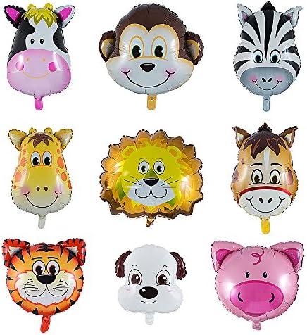 Kein Helium Ballon Folienballons Gesicht Baby Affe Makaken Party Zoo Tiere