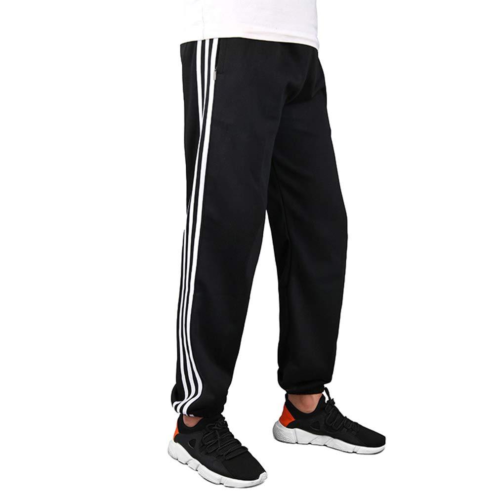 Hombre Cintura Media Pantalones Largos Moda Casuales Al Aire Libre Pantaló n de Chá ndal Hombres Tallas Grandes Pantalones a Rayas para Jogging Fitness Running