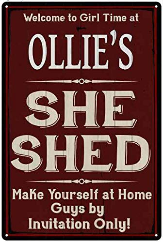 Magnificent Amazon Com Chico Creek Signs Ollies She Shed Red Sign Pdpeps Interior Chair Design Pdpepsorg