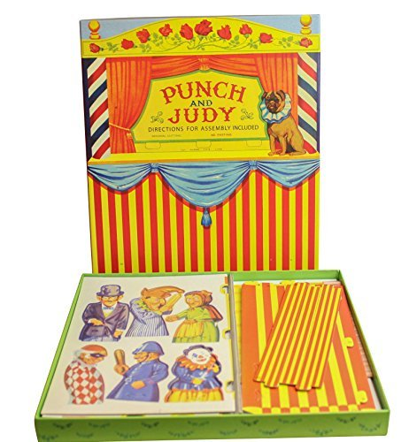 House of Marbles Vintage Style Punch and Judy Puppet Theatre Set by House of - Cardboard Theater Puppet