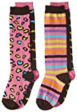 K. Bell Socks Big Girls' Mix It Up Fun Icons Kh 2 Pack, Multi, 6-8.5