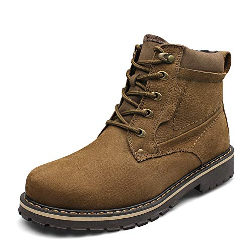 Cuero Zapatos Hombre Militares Lovdram Botas Martin Hombres Khaki Algodón Moda De Invierno Grueso Cálido wH1cqTU