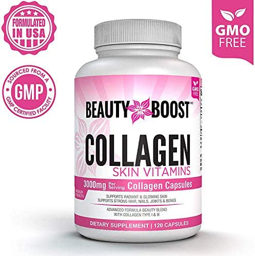 Collagen Peptides Pills for Hair and Skin, On-The-go 3000mg Collagen Complex Capsules for Radiant Skin and Strong Hair, Nails, Joints & Bones (120-Count, 30-Day Supply)
