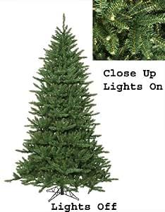 12' Pre-Lit Frasier Fir Artificial Christmas Tree & Rolling Stand - Clear Lights
