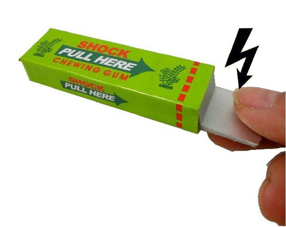 Accreate One Pack of Shocking Gum, Funny Shock Gag (Random Color)
