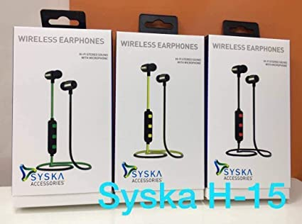 8d1a2c10996 Image Unavailable. Image not available for. Colour: Syska Wireless Earphone  ...