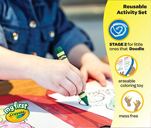 51OA7LxHJnL - Crayola Toddler Coloring Set, Reusable Activity Mat with Washable Crayons, Gift