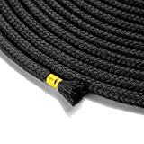32 feet (10m) All Purpose Soft Colored Cotton Rope, Sturdy and Durable, Pack of 3 (Black Red Purple) LIMTIED TIME Offer 3 8