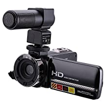 IFLYING Camcorder 1080P 16X Digital Zoom 3 Inch Touch Screen Portable LCD HDV Video Camcorder With Microphone