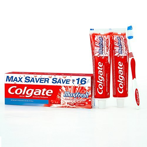 Colgate Freshness Combo (Colgate Max Fresh Red Toothpaste - 150 g, Colgate Ultra Soft Neo Toothbrush, Colgate Plax Spicy Fresh Alcohol Free Mouthwash - 250 ml)