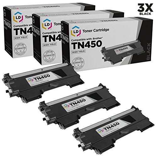 LD Compatible Set of 3 Brother TN450 High Yield Toner Cartri