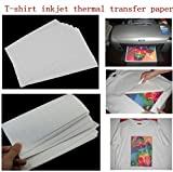 TOTAL HOME: 5Pcs Hot Good Quality T-Shirt A4 Iron-On Inkjet Heat Transfer Paper For Fabrics Cloth New (Color: White)