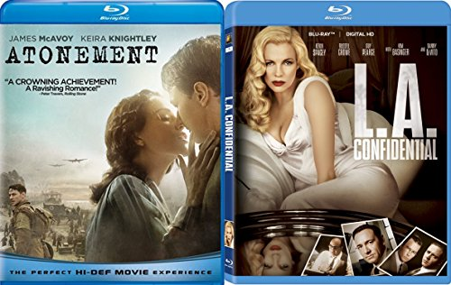 L.A. Confidential & Atonement Blu Ray 2 Pack Love & Mystery Movie Set