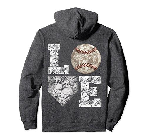 Unisex Baseball Distressed Ball Cute Mom Love Pullover Hoodie Large Dark Heather
