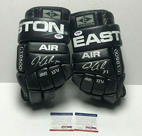 Jonathan Quick Dual Signed Game Used GX500 Easton Hockey Gloves *Kings - PSA/DNA Certified - Game Used NHL Gloves
