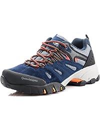 Women's Suede Slip-Resistant Hiking Shoes Walking Sneakers Outdoor Trail Trekking Shoes