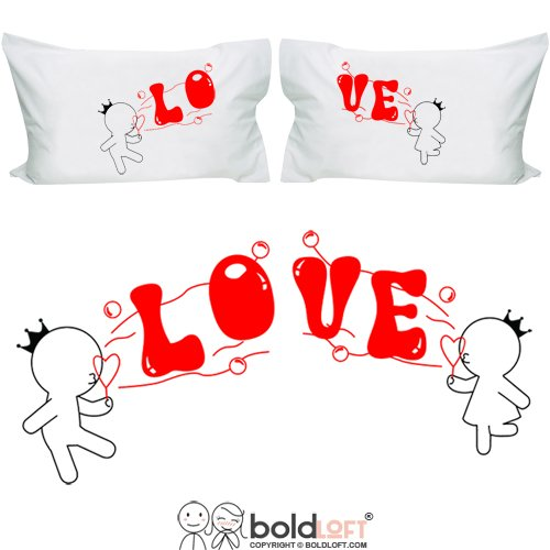 BOLDLOFT-Bubbling-with-Love-for-You-Couple-Pillowcases-Valentines-Day-Gifts-for-Him-for-HerValentines-Day-Gifts-for-Girlfriend-BoyfriendCute-Couple-Gifts-Anniversary-GiftsWedding-Gifts