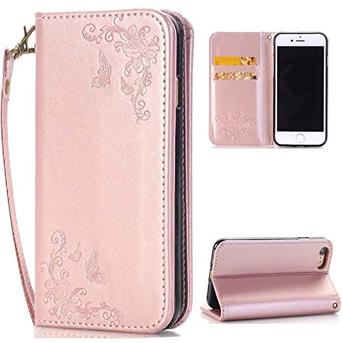 iPhone 7 Plus Case,iPhone 7 Plus Wallet Case,Creativecase [Wallet Case]PU Leather Flip Case [Magnetic Closure]+Lanyard Case for iPhone 7 Plus 5.5 inch