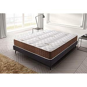 Living Sofa Matelas 140x190 cm Visco Ergo Anatomique - Épaisseur 19 cm - Double Face réversible - Mousse H.R - Système Triple Couche - 7 Zones de Confort - Indépendance de Couchage 4