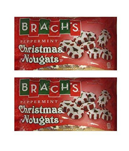 Brach's Peppermint Christmas Nougats - Each Bag 9.5 Oz - 2 B