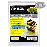20 Piece Multi Use Great Value,Drop Cloth,Plastic Drop Cloth, for Paint Roller, 9x12Feet, Home Repair Tools,Tools,Tool Kits,Tools