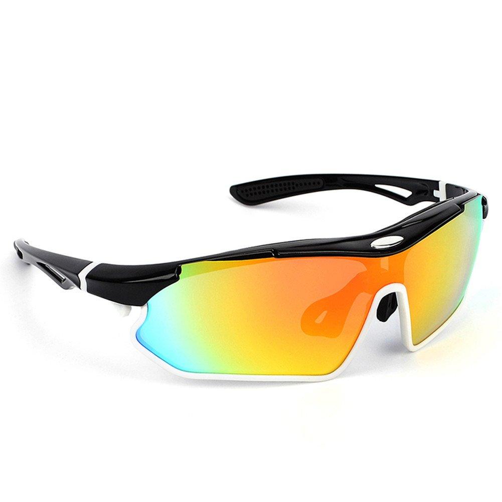 Spohife Sports Lunettes de soleil, protection UV 400Lunettes de sport avec lentille Rveo pour homme et femme–Cyclisme Ski Pêche Golf, bleu