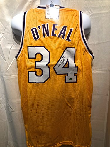 (Shaquille O'Neal Los Angeles Lakers Signed Autograph Custom Jersey Schwartz Sports Certified )