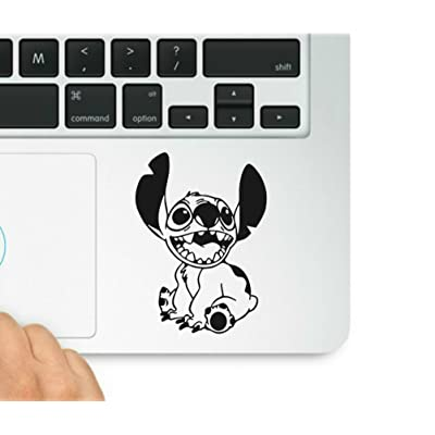Lilo and Stitch-Stitch Decal- Decal & Sticker Pros Motivational Quote Printed on Clear Vinyl Compatible with All MacBook Pro, Retina, and Air: Computers & Accessories