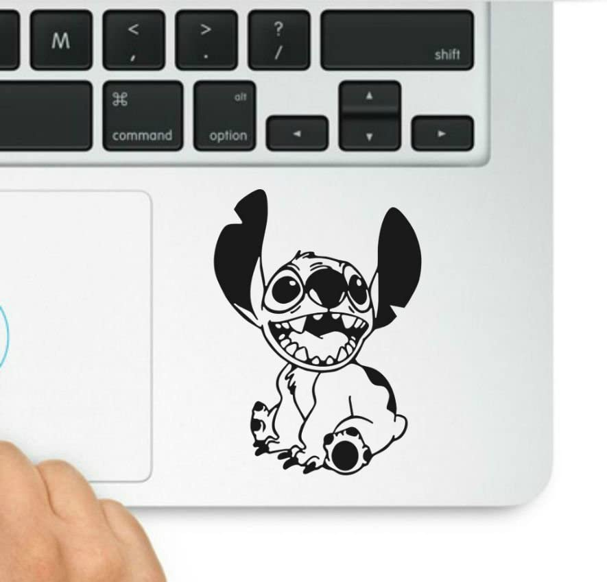 Lilo and Stitch-Stitch Decal- Decal & Sticker Pros Motivational Quote Printed on Clear Vinyl Compatible with All MacBook Pro, Retina, and Air