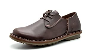 Bruno MARC 6195 Men's Dress Classic Casual Oxfords Leather Lace Up Comfort Shoes DK.BROWN SIZE 8