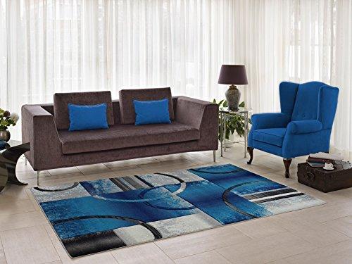 Ladole Adonis Grey Blue Area Rug, Soft, Durable, Living Room Area Rug (2'7