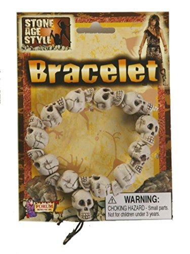F63239 Skull Bracelet Stone Age Style Cave Man Jewelry (Cave Man And Woman Costumes)