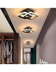 ADISUN LED Ceiling Light Modern Lighting Fixtures Warm White Flush Mount Square Ceiling Lamp for Kitchen Loft Aisle Hallway Balcony Stair Bedroom 22W