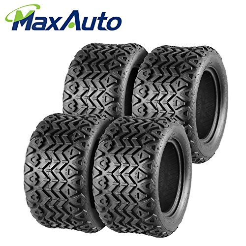 MaxAuto Golf Cart Tires 22x11-12 22/11-12 22x11x12, 4Ply (4 Pack)