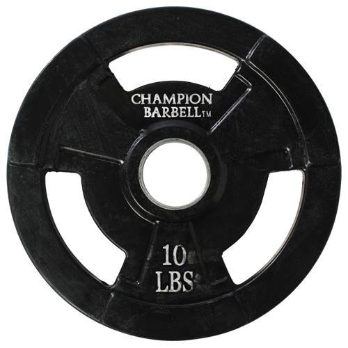 Champion Rubber Coated Grip Plate (10-Pound) For Sale