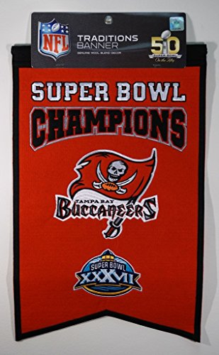 Tampa Bay Buccaneers NFL Super Bowl Champions 14x21 Wool Felt Banner (Tampa Bay Buccaneers Wall Pennant)