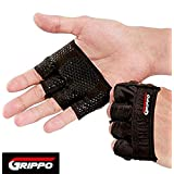 Grippo Weight Lifting Gloves | Anti-Slip Gripper Callus Guard - Gym Workout Gloves for WOD, Weightlifting & Cross Training Athletes – Light & Portable