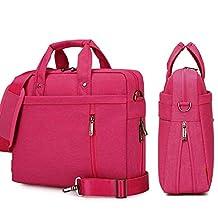 YiYiNoe Shoulder Bag for 15 inch Laptop Business Briefcase Waterproof Messenger Bags Hot Pink